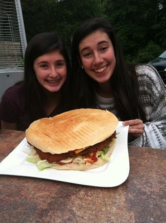The Big Emma: full size schnitzel burger