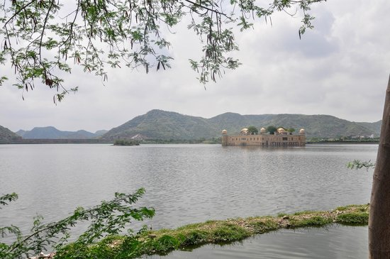 Trident, Jaipur : The Jal Mahal Summer Palace accros the road