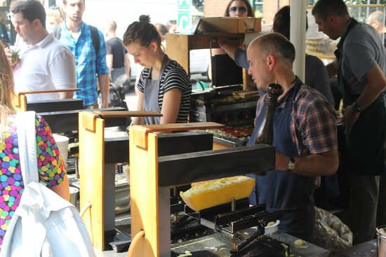 Borough Market: Raclette cheese toast