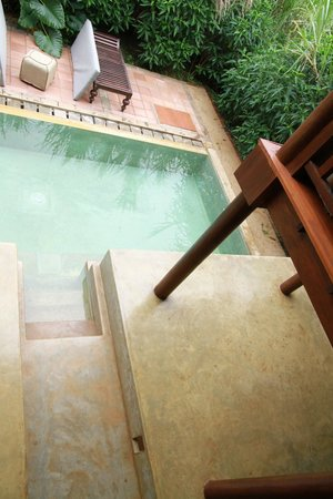 Jetwing Vil Uyana : view of private pool from the bedroom