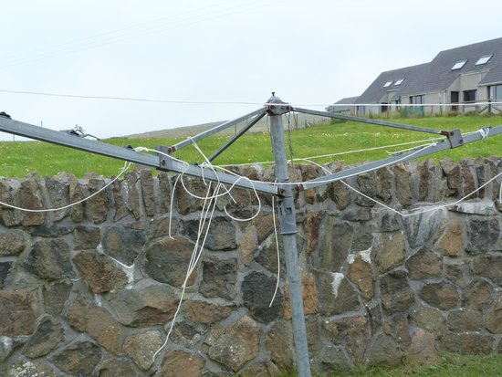 Saxa Vord Resort: No tumble dryer but you can dry your washing here