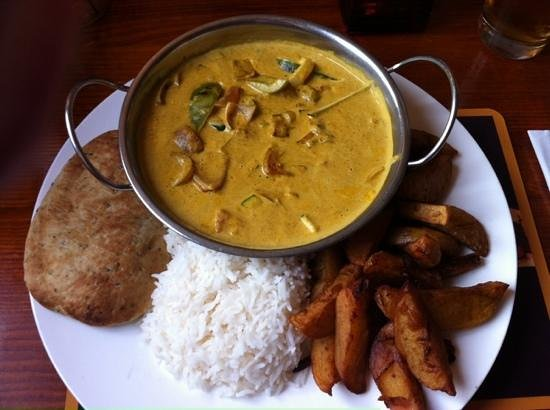The Crown Inn: Vegetable curry