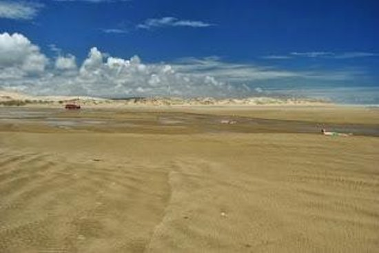 Te Paki Sand Dunes: Creek and 90 miles beach