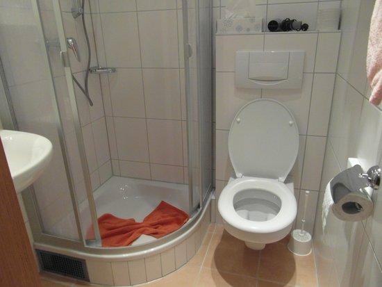 Hotel Kreuter: Basic but more than adequate bathroom