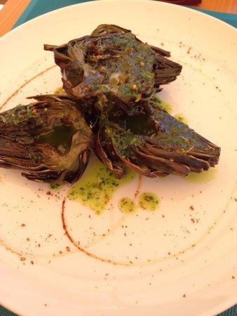 Fang i Aram Restaurant Vegetarià: Carciofi al forno!