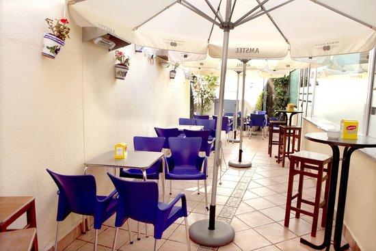 El Zaguan Restaurante: Terraza interior