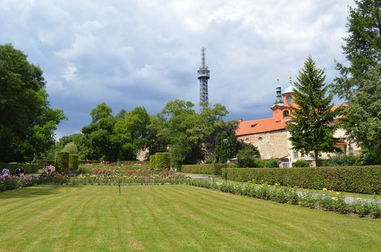 Petrin Tower (Rozhledna) : The tower, from the park behind