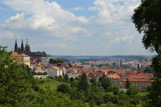 Petrin Tower (Rozhledna) : The views on the walk to the tower