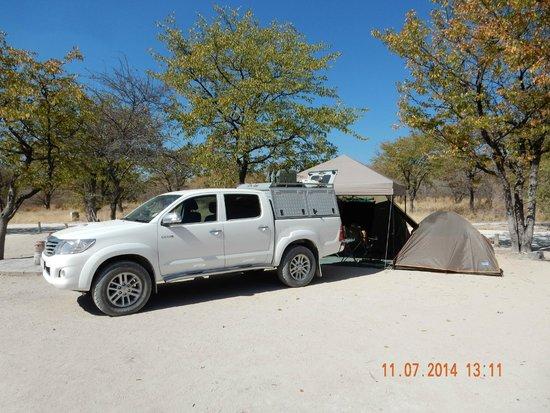 Halali Resort: Campsite
