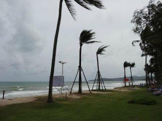 Outrigger Laguna Phuket Beach Resort: ホテルのプール目の前のビーチ