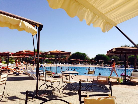 Marrakech Ryads Parc & Spa by Blue Sea: A view from a lounger.