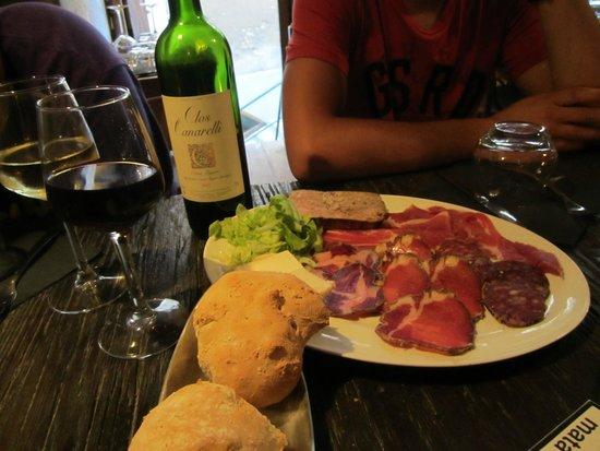 Ciccio: assiette charcuterie et fromage