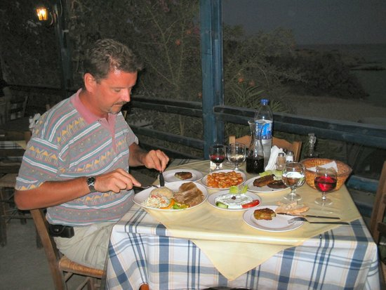 Calypso Restaurant: I'm eating, wife taking picture... Food for the GODS!