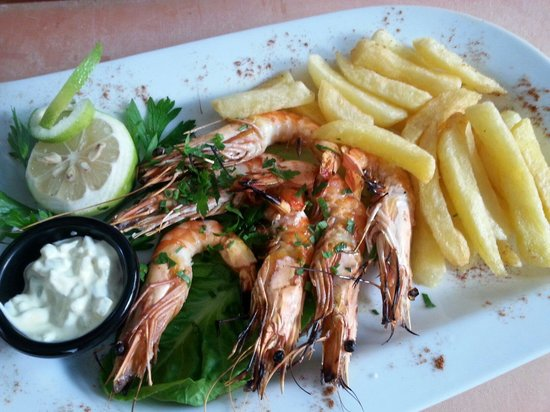 Christos Grill & Seafood: Grilled prawns
