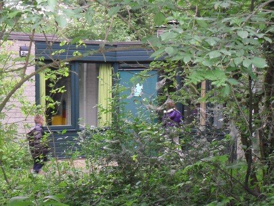 Center Parcs Erperheide : Porte principale avec un petit animal de couleur pour que les enfants se repère