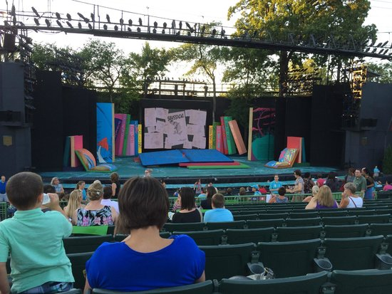 The Muny : Muny stage, before the show, Seussical