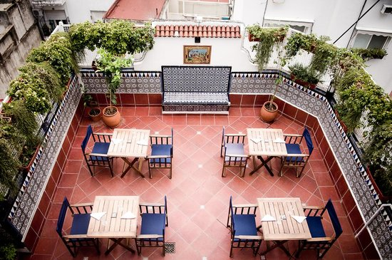 The 5th Floor : Our Terrace. We have invested in 3 separate wifi services for coverage throughout the property.