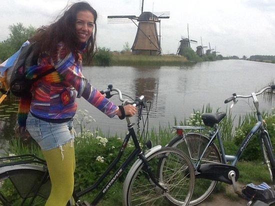Mühlenanlagen in Kinderdijk-Elshout: en bici es mejor
