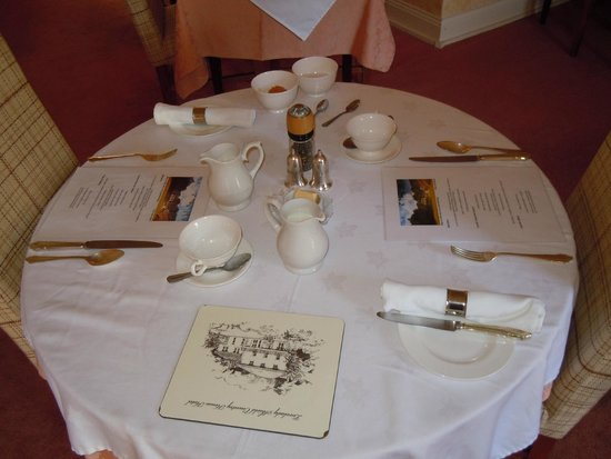 Lovelady Shield Country House Hotel: Breakfast Table
