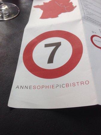 Le7 Bistrot Chic: Carte du restaurant !