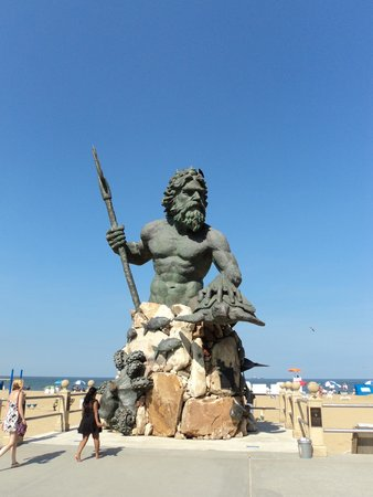 Virginia Beach: King Neptune on the Boardwalk