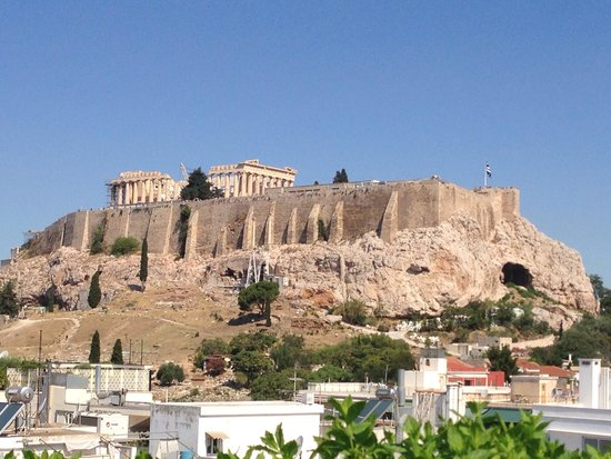 The Athens Gate Hotel: View from Acropolis