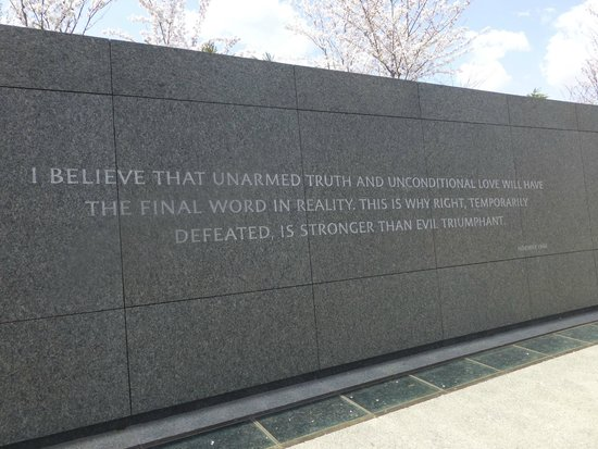 Martin Luther King, Jr. Memorial: MLK words