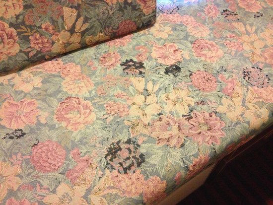 BridgePointe Inn & Suites: Discolored/stained window seat