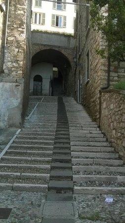 Le Muse Bed and Breakfast: Escaleras de acceso a Le Muse
