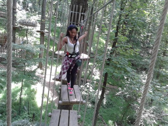 Go Ape Treetop Adventure Course: this is scary but fun