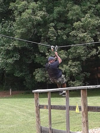 Go Ape Treetop Adventure Course: zip-line to the finish
