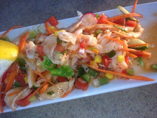 Seaside Cafe: Peruvian conch salad