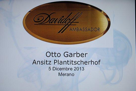 Ansitz Plantitscherhof: Davidoff Lounge in Meran