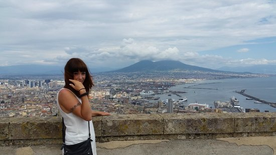 Castel Sant'Elmo : View of Vesuvius from ramparts