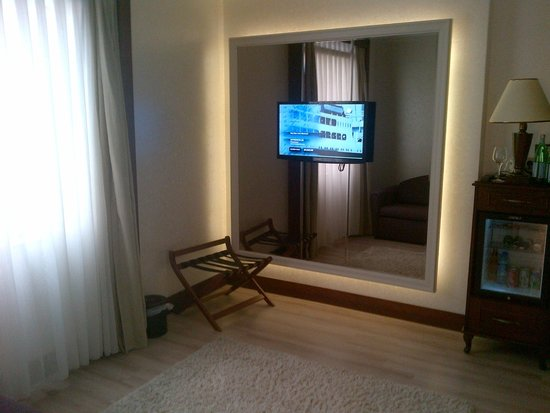 LaresPark Hotel: Flat screen in anteroom