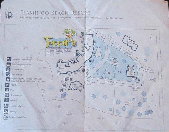 Flamingo Beach Resort : map of property