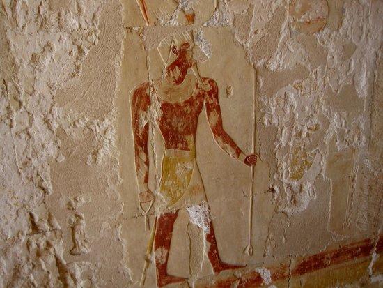 Totentempel der Hatschepsut im Deir-el-Bahari-Tal: Сохранившаяся краска