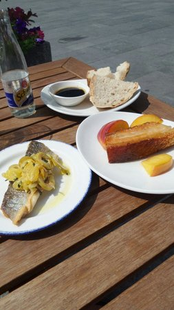 Salt House Tapas: Sea Bass and Belly Pork