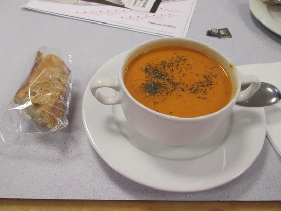 The Cafe at National Coal Mining Museum for England: Tomato Soup and Roll
