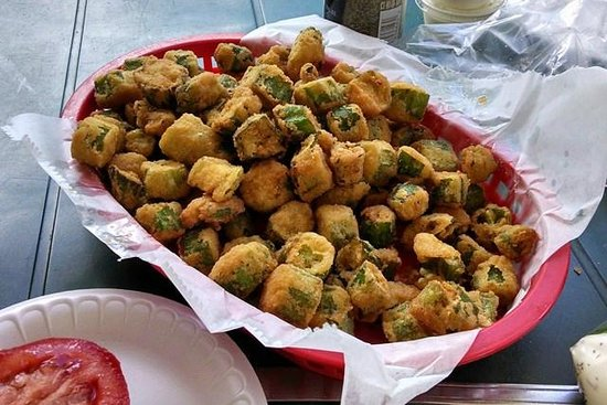 Southern Vittles : Big basket of fried okra