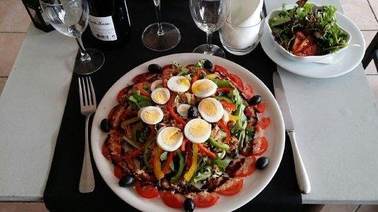 Le GORDON : Repas juillet 2014 Salade très copieuse et goûteuse