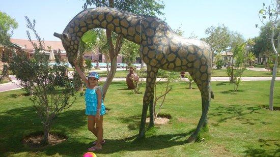 Jungle Aqua Park: таких статуй очень много (зебры, горилла, лев, Дональд Дак и т.п.)