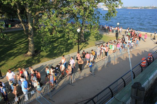 Ellis Island Immigration Museum: beginning of the line...