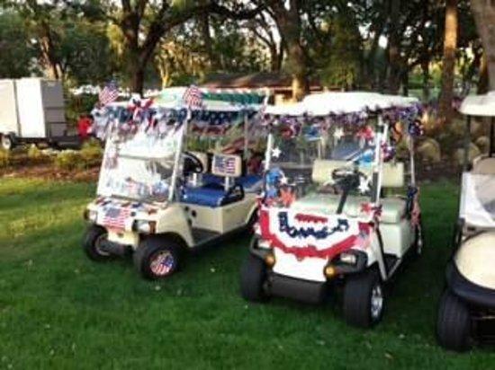 Silverado Resort and Spa: July 4th golf carts