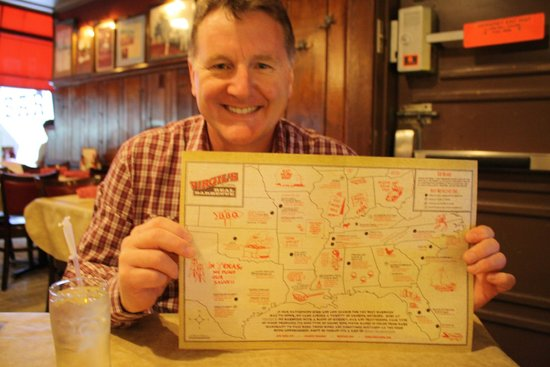 Virgil's Real Barbecue-Time Square : My husband with the menu