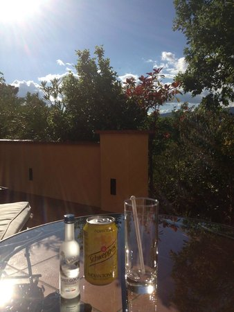 Terre Blanche Hotel and Spa : Il giardinetto in camera...e il cocktail ovviamente