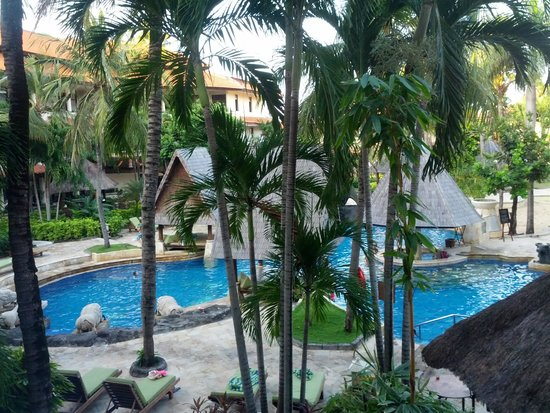 The Tanjung Benoa Beach Resort Bali: Pool from 2nd floor balcony