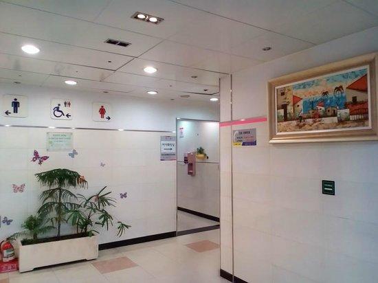 Seoul Metro : интерьер туалета в метро