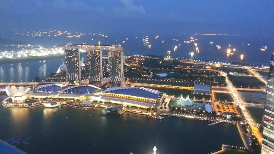Gallery & Bar at 1-Altitude: Full view of iconic MBS from 1 Altitude
