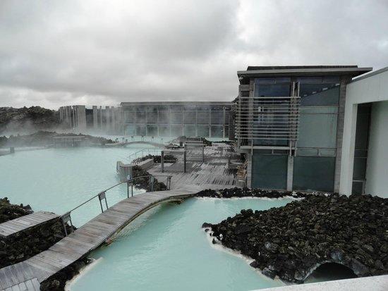 Blue Lagoon Iceland: The Lagoon from the balcony